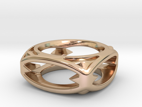 PILLOW 10 RING SIZE 11 in 14k Rose Gold Plated