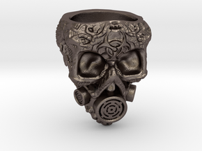 Plague Skull Ring (size 10) in Stainless Steel