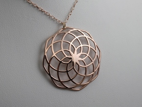 Classic Spiral Pendant in 14k Rose Gold Plated