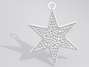 Star Ornament Large in White Strong & Flexible