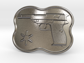 Walther P38 Belt Buckle in Polished Nickel Steel