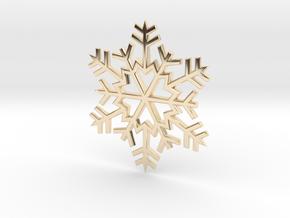 Snowflake Pendant in 14k Gold Plated
