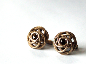 Merged Rings Cufflinks in Stainless Steel