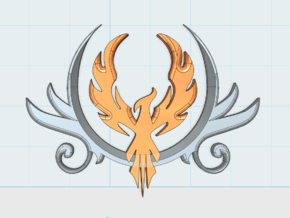 PhoenixCrest: Large Vehicle Insignia Set in Frosted Ultra Detail