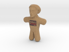 Hillary Clinton Voodoo Doll - Color in Full Color Sandstone