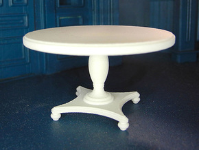 1:24 Round Colonial Dining Table in White Strong & Flexible Polished