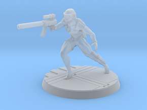 Assassin 28mm-32mm scale in Frosted Ultra Detail