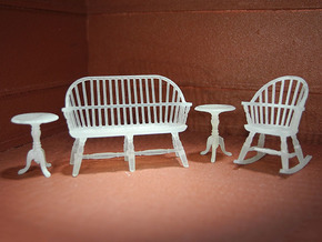 1:48 Windsor Sitting Room Set in Frosted Ultra Detail