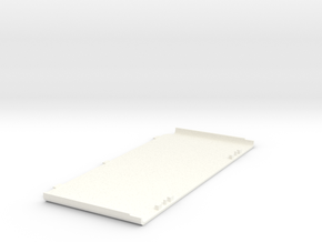 3DS Bottom Faceplate - Base in White Strong & Flexible Polished