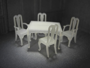 1:48 Queen Anne Dining Set in Frosted Ultra Detail