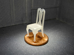 1:48 Queen Anne Chair in Frosted Ultra Detail