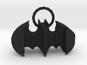 Batman keychain (or necklace ) in Black Acrylic