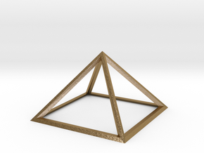 Giza Pyramid in Polished Gold Steel