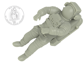 NASA Astronaut with space shuttle EMU suit (1:72) in White Strong & Flexible