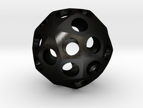Triacontihexahedron Roller in Matte Black Steel