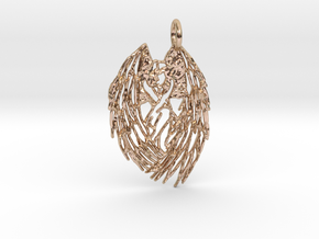 Shy Angel Pendant in 14k Rose Gold Plated