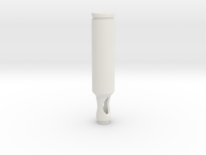 Bullet shell airbrush handle in White Strong & Flexible