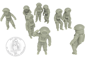 Destination Moon / Classic Astronauts Set / 1:48 in White Strong & Flexible