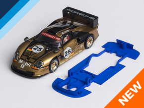 1/32 Fly Porsche GT1-97 Chassis for slot.it pod in Blue Strong & Flexible Polished