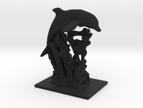 Dolphin Statue in Black Strong & Flexible