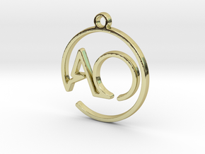 A & O Monogram Pendant in 18k Gold Plated