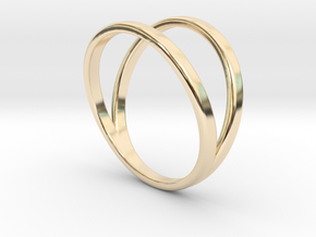 Split Ring Size 13 in 14k Gold Plated
