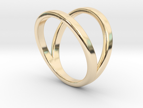 Split Ring Size 6 in 14k Gold Plated
