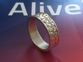 Woven Ring V2 in White Strong & Flexible