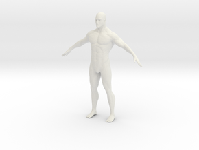 1/24 Male Figure in White Strong & Flexible