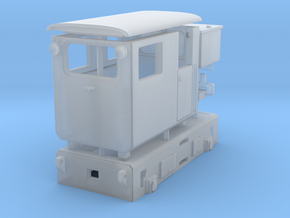 Tunneling Battery Loco H0e in Frosted Extreme Detail
