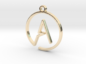 A Monogram Pendant in 14k Gold Plated