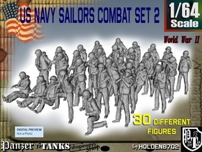 1/64 US Navy Sailors Combat SET 2 in Frosted Ultra Detail