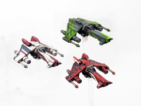 Kihraxz Style Vaskai Starfighter Variants - 3 Pack in Frosted Extreme Detail