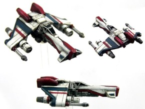 3-Pack Kihraxz Style Vaskai Fighter - Variant A in Frosted Extreme Detail