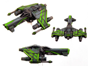 3-Pack Kihraxz Style Vaskai Fighter - Variant B in Frosted Extreme Detail
