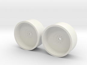 1/64 20.8-42 Dual Rims in White Strong & Flexible