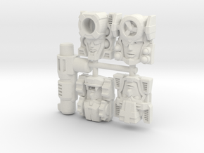 Fembot Faces Four Pack in White Strong & Flexible