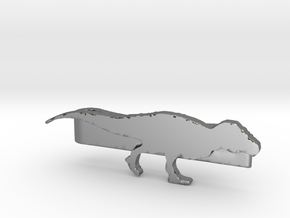 Trex Tie Clip in Polished Silver