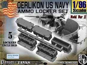 1/96 Oerlikon US Navy Ammo Locker SET in White Strong & Flexible