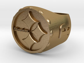 Steelers Ring size 12 in Polished Gold Steel