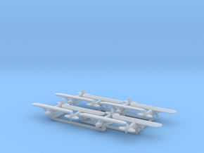 Piper PA18 - set of 8 - 1:700 scale in Frosted Ultra Detail
