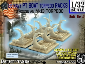1-32 PT Torpedo Rack TypC Set1 in Frosted Ultra Detail