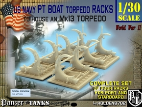 1-30 PT Torpedo Rack TypC Set1 in Frosted Ultra Detail