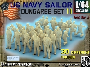 1-64 US Navy Dungaree Set 11 in Frosted Ultra Detail