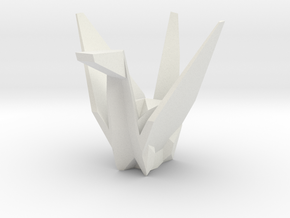 3D Origami Crane in White Strong & Flexible