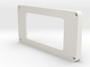 WRHB to Uncovered Humbucker Mounting Ring - Bridge in White Strong & Flexible
