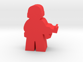 Game Piece, Red Force Soldier in Red Strong & Flexible Polished