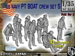 1/35 US Navy PT Boat Crew Set5 in Frosted Ultra Detail