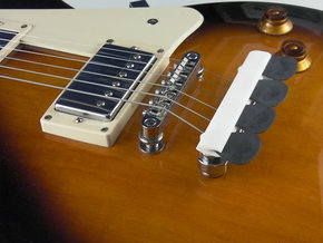 Bridge Pick Holder for Gibson Tune-O-Matic Bridge in White Strong & Flexible Polished