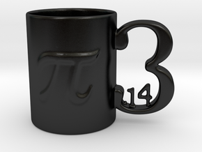 Porcelain PI Mug  in Matte Black Porcelain